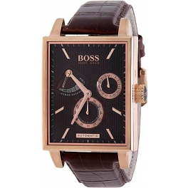 Hugo Boss 1512411 Rose Gold Brown Leather Men S Watch Sunwatchstyle